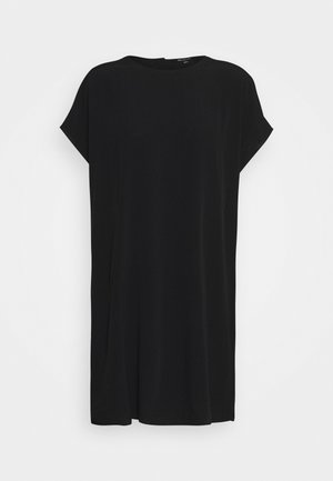 BUTTON BACK EASY DRESS - Košilové šaty - true black