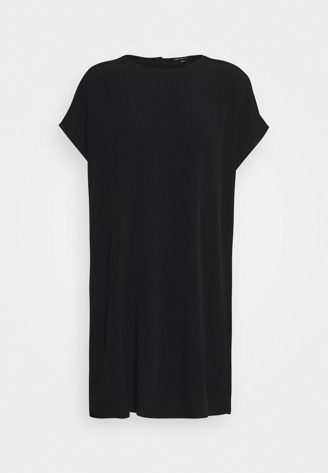 BUTTON BACK EASY DRESS - Blousejurk - true black
