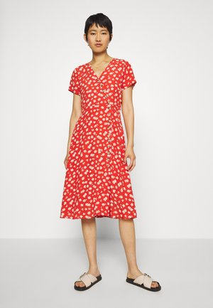 KARELL MIDI IN ALOHA FLORAL - Day dress - thai chili