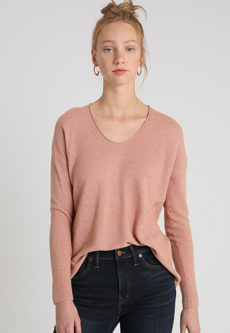 Madewell - CATALINA U NECK - Long sleeved top - heather rose