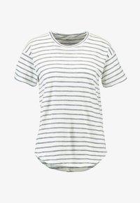 Madewell - WHISPER CREWNECK TEE IN STRIPE - Print T-shirt - nightfall/sand dune - 3