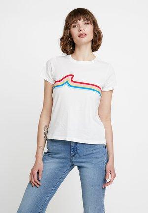 HARLEY TEE RAINBOW WAVE - Print T-shirt - white wash