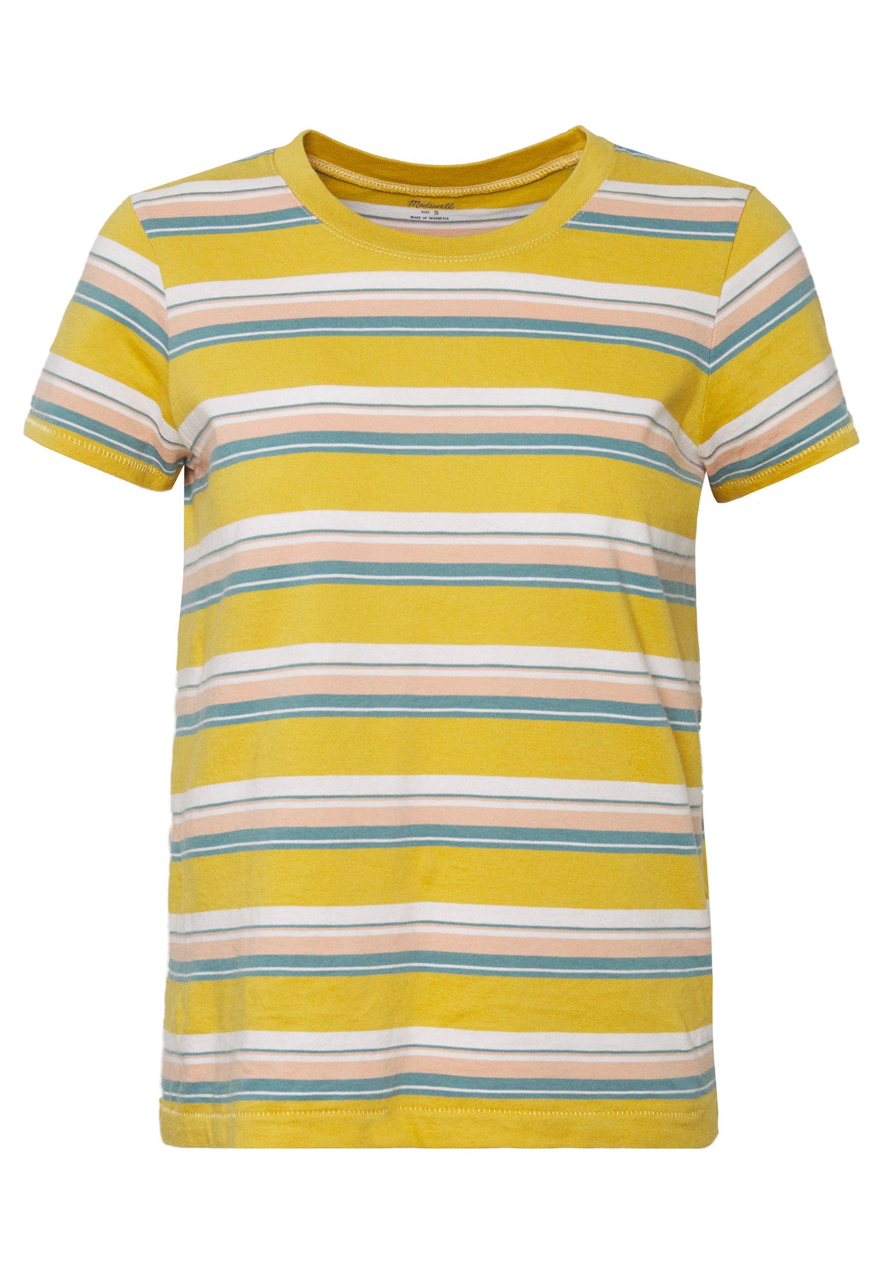 Madewell Northside Vintage Tee In Puer Stripe - Print T-shirt Greek Gold