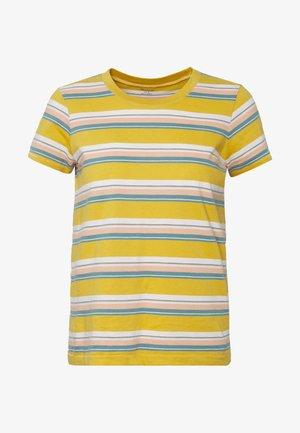 NORTHSIDE VINTAGE TEE IN PUER STRIPE - T-shirts med print - greek gold puer stripe