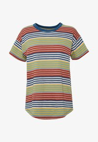 Madewell - SORREL WHISPER CREW IN BABY TEE - Print T-shirt - english breakfast/greek gold