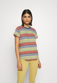 Madewell - SORREL WHISPER CREW IN BABY TEE - Print T-shirt - english breakfast/greek gold - 0