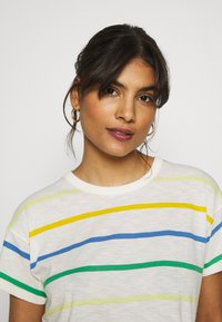 Madewell - WHISPER CREWNECK TEE IN STORM STRIPE - Print T-shirt - hermitage blue - 3