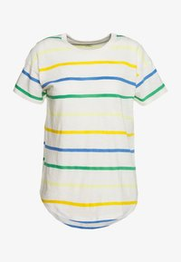 Madewell - WHISPER CREWNECK TEE IN STORM STRIPE - Print T-shirt - hermitage blue - 4
