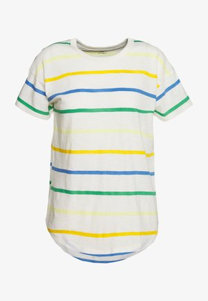 WHISPER CREWNECK TEE IN STORM STRIPE - Print T-shirt - hermitage blue