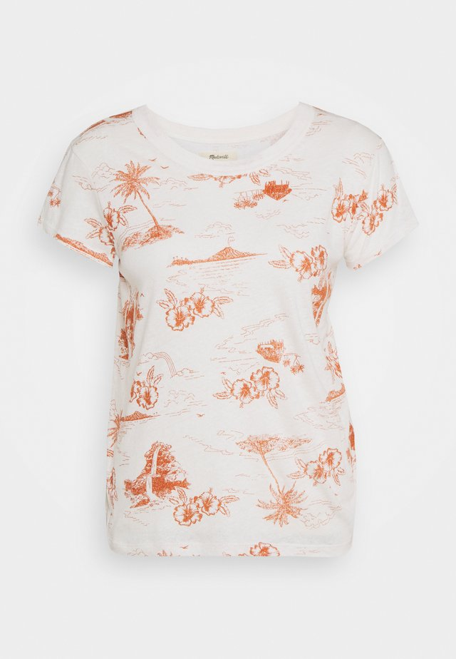 DAFFODIL TEE GRAPHIC - T-shirt z nadrukiem - paradise toile lighthouse