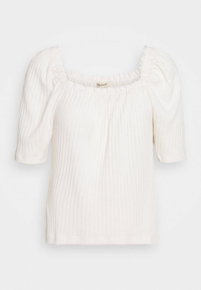 CAFÉ CLUNY - T-shirt med print - pearl ivory