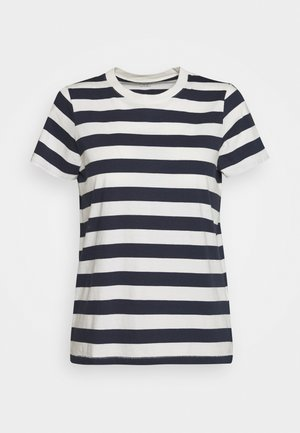 NORTHSIDE VINTAGE TEE IN IRON MAN STRIPE - T-shirt con stampa - dark baltic