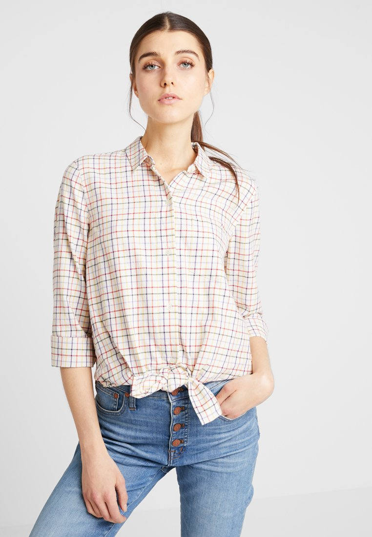 Madewell - RAINBOW TIE FRONT  - Chemisier - lacy plaid