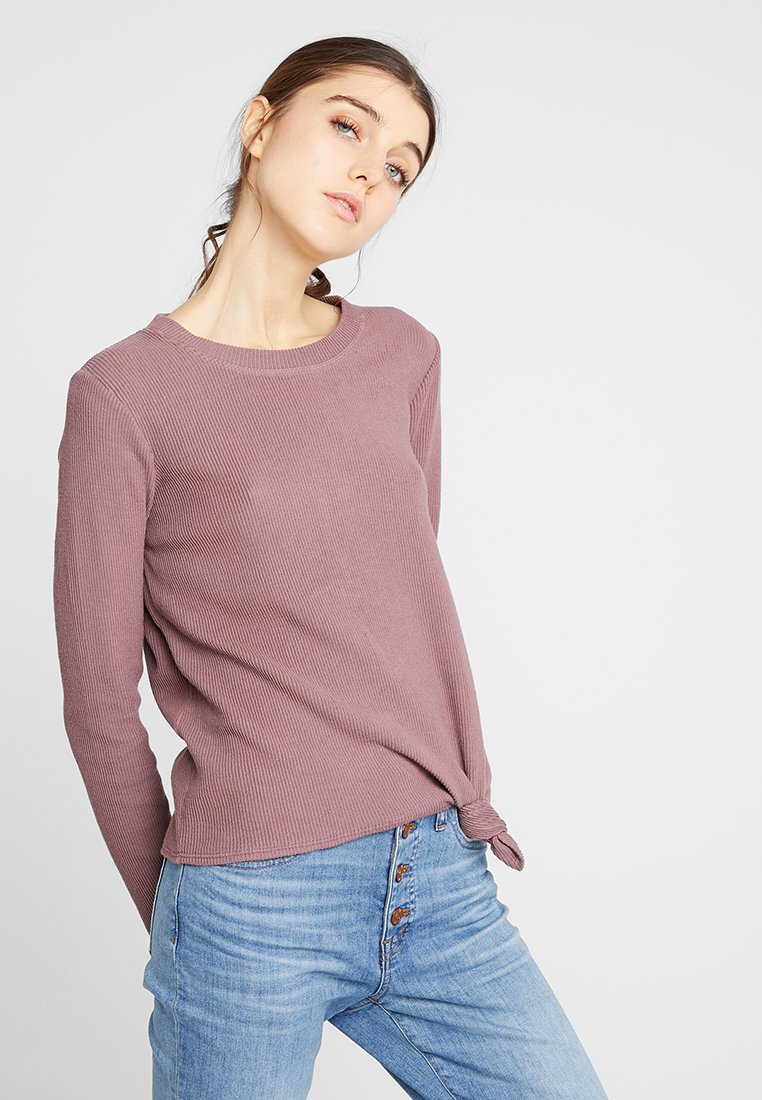 Madewell - ELWOOD KNOT FRONT  - Sweter - frosty mauve