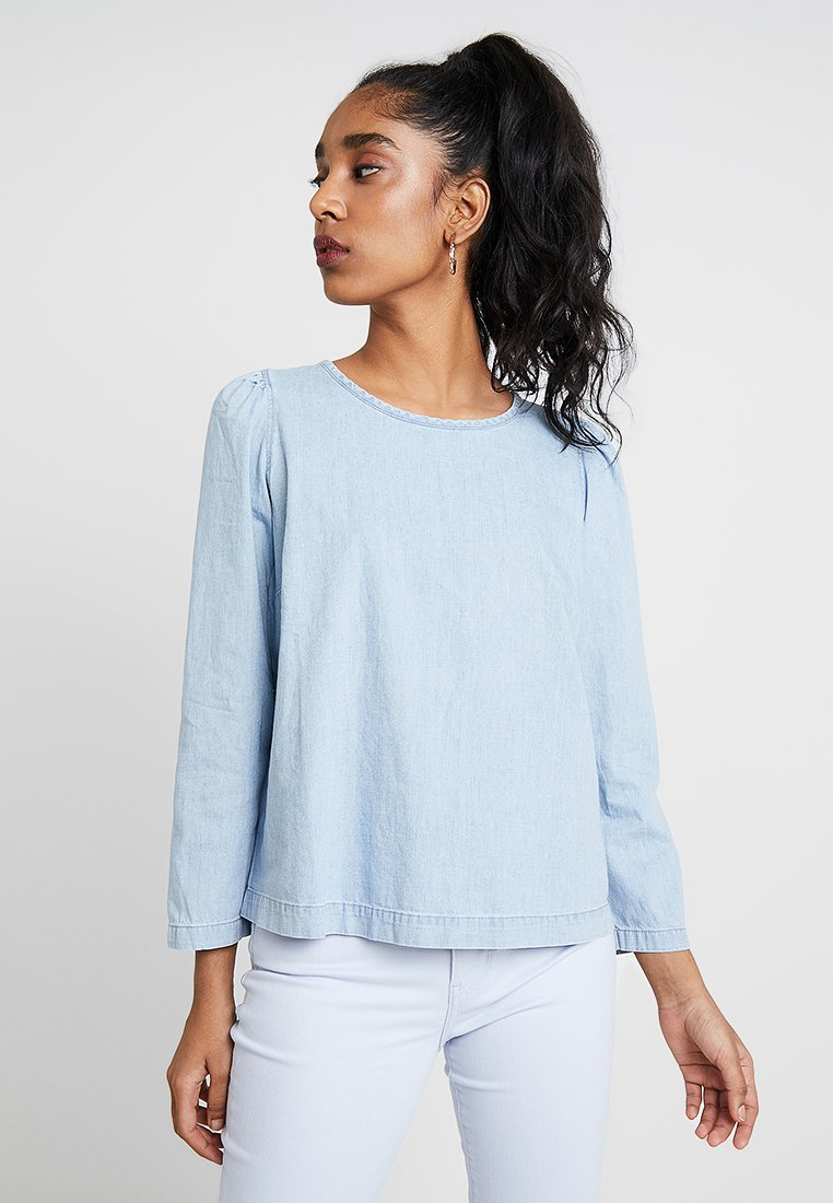 Madewell - PUFF SLEEVE BLOUSE - Blouse - hawes wash