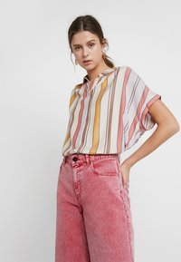 Madewell - CENTRAL IN BEACH STRIPE - Overhemdblouse - antique lace beach - 0