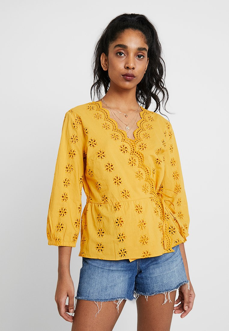 Madewell - EYELET WRAP - Blouse - tungsten glow