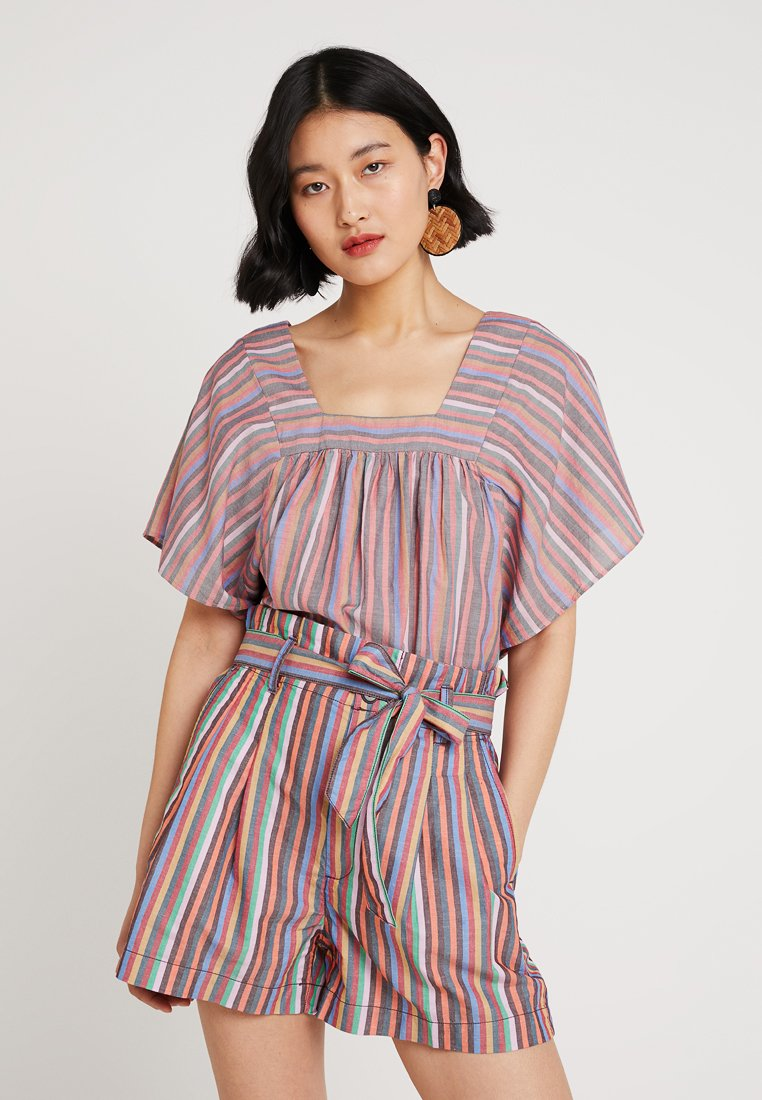 Madewell - BUTTERFLY IN RAINBOW STRIPE - Blusa - mulled wine