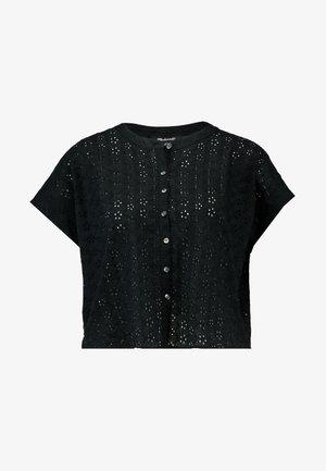 OVERSIZED EYELET - Koszula - true black
