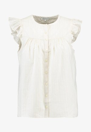 BUTTON DOWN FLUTTER SLEEVE - Blouse - off-white