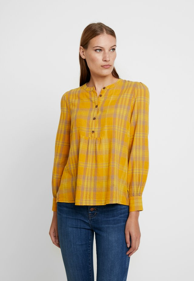 BIB BALLOON SLEEVE - Blouse - yellow