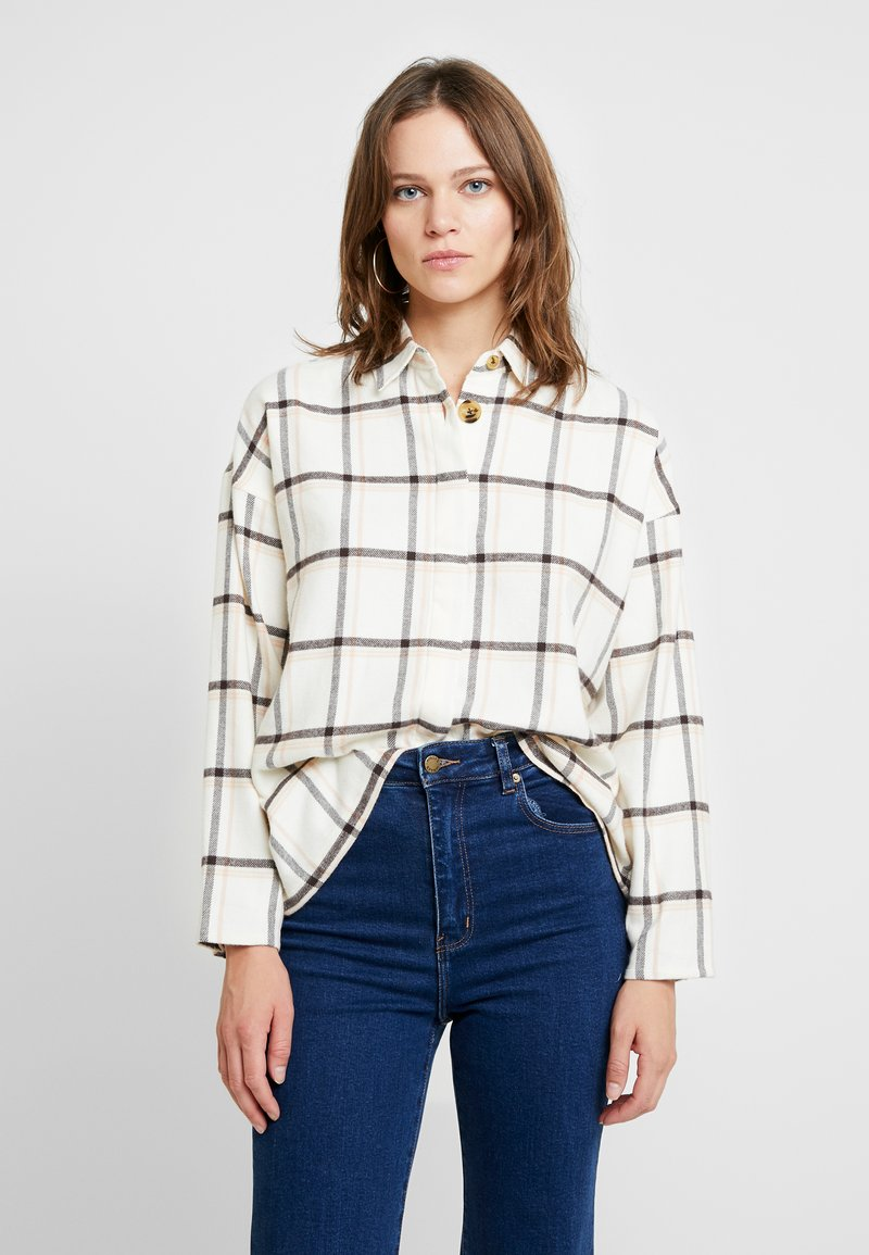 Madewell - BROMLEY - Button-down blouse - montgomery plaid pearl ivory
