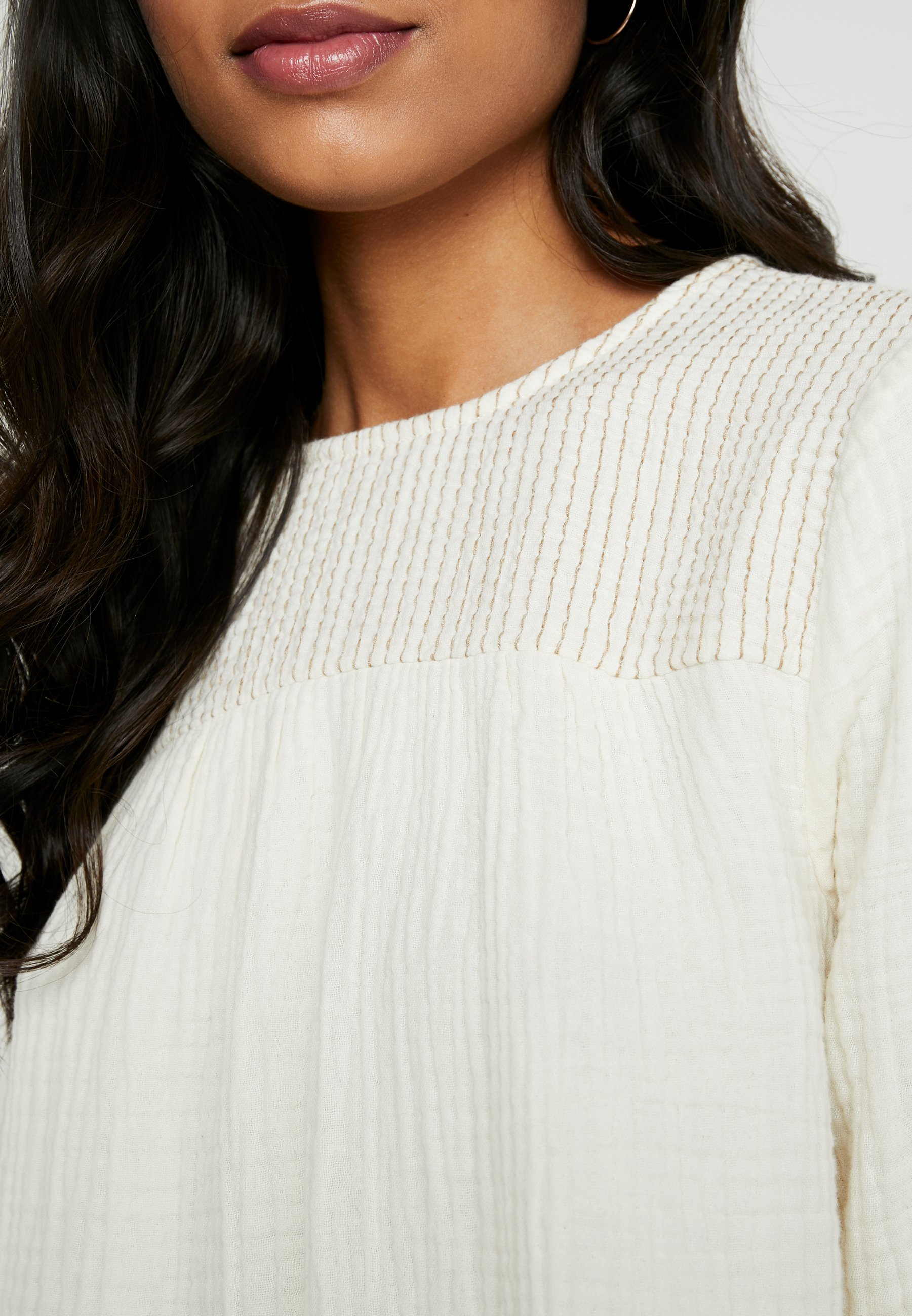 Madewell SMOCKED TEXTURED FABRIC - Blouse - antique cream dxhvc