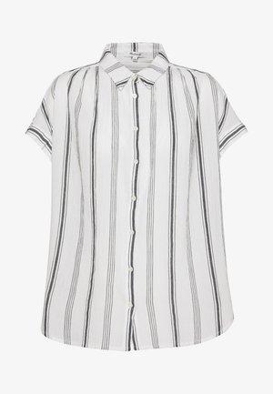 CENTRAL SPACED STRIPE - Button-down blouse - dark midnight