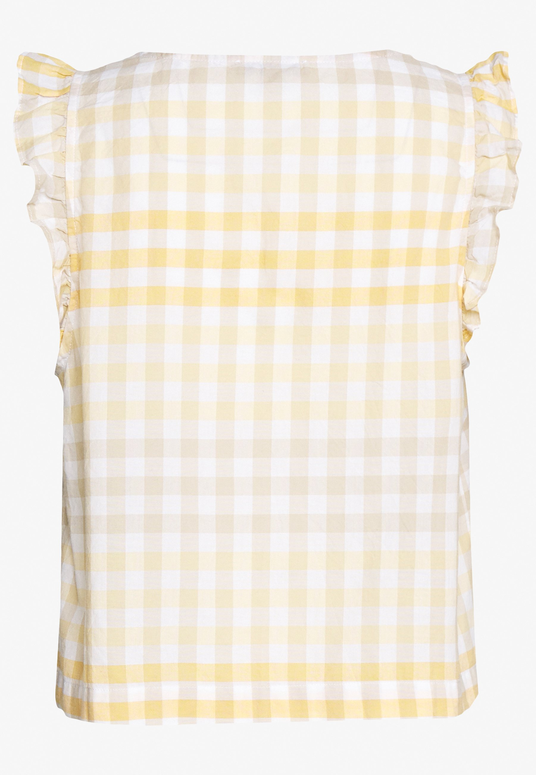 Madewell CAMILLA TANK HOOK UP IN GINGHAM - Bluzka - gingham ombre pollen