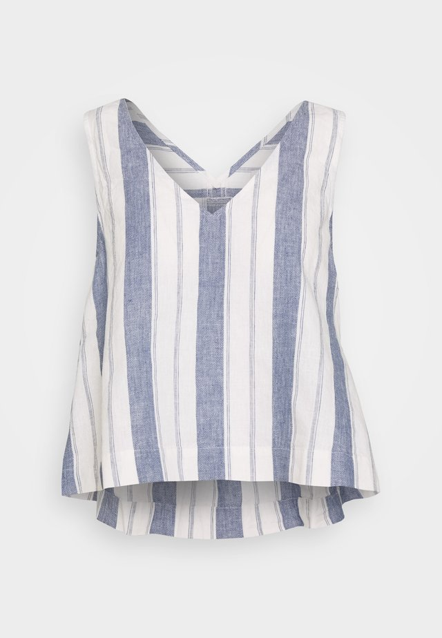 SIDE TIE TANK STRIPE - Camicetta - nice blue