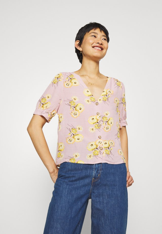 DELANCY BUTTON DOWN FLORAL PRINT - Camicetta - twiggy wisteria dove