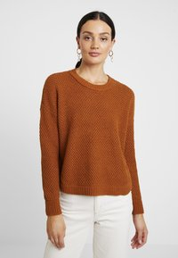Madewell - KATE MIGRATION STITCH CREW - Pullover - golden pecan - 0