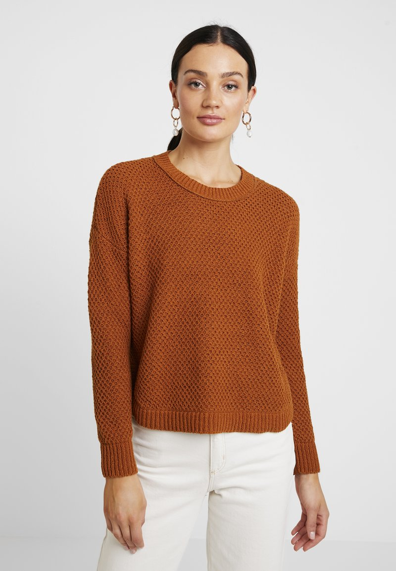 Madewell - KATE MIGRATION STITCH CREW - Strickpullover - golden pecan