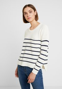 Madewell - BIRCH PATCH POCKET PULLOVER NAUTICAL STRIPE - Svetr - pearl ivory - 0