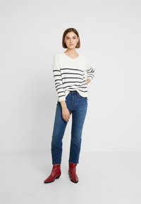 Madewell - BIRCH PATCH POCKET PULLOVER NAUTICAL STRIPE - Svetr - pearl ivory - 1