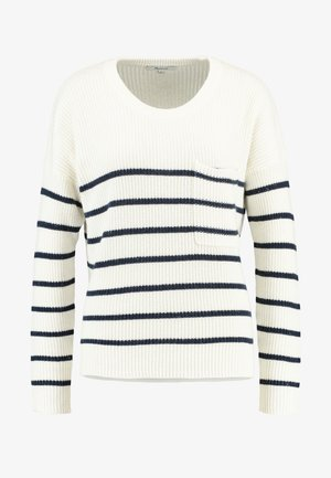 BIRCH PATCH POCKET PULLOVER NAUTICAL STRIPE - Maglione - pearl ivory