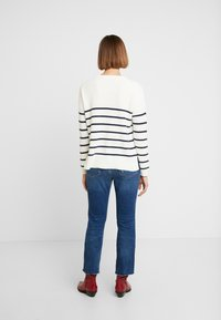 Madewell - BIRCH PATCH POCKET PULLOVER NAUTICAL STRIPE - Svetr - pearl ivory - 2
