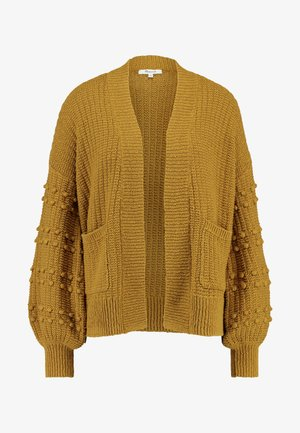BOBBLE SLEEVE SYCAMORE CARDIGAN - Cardigan - egyptian gold
