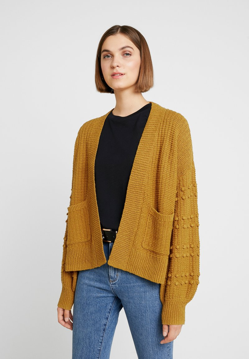 Madewell - BOBBLE SLEEVE SYCAMORE CARDIGAN - Cardigan - egyptian gold