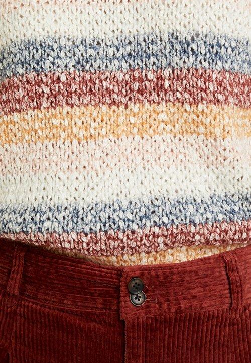 Madewell SQUASH BLOSSOM - Sweter - beige Odzież Damska LJTM-TA3 Darmowa dostawa