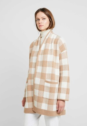 ASPEN PLAID EDIT STORES - Strikjakke /Cardigans - saddle