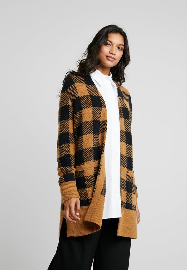 PLAID KENT - Cardigan - true black/camel