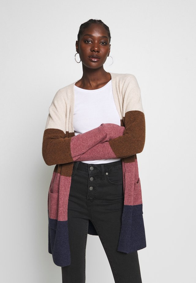 WIDE STRIPE KENT CARDIGAN - Strickjacke - quinoa