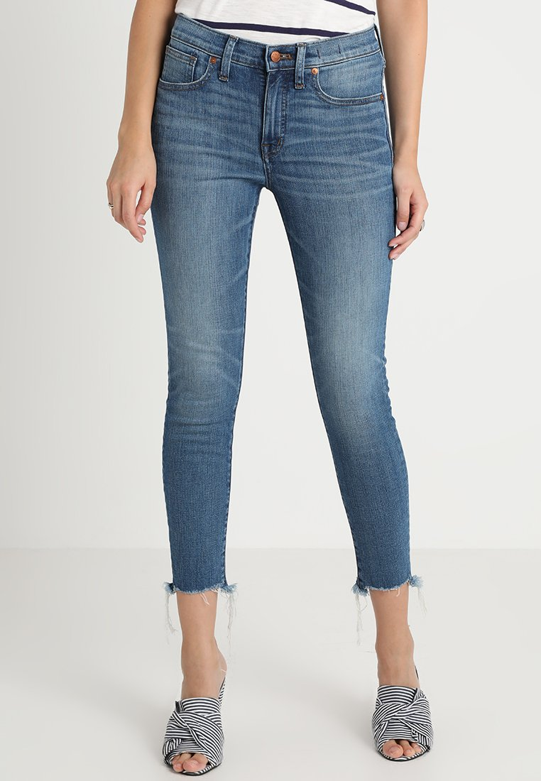 Madewell - CROP KAIHARA RAW HEM - Jeans Skinny - blue denim