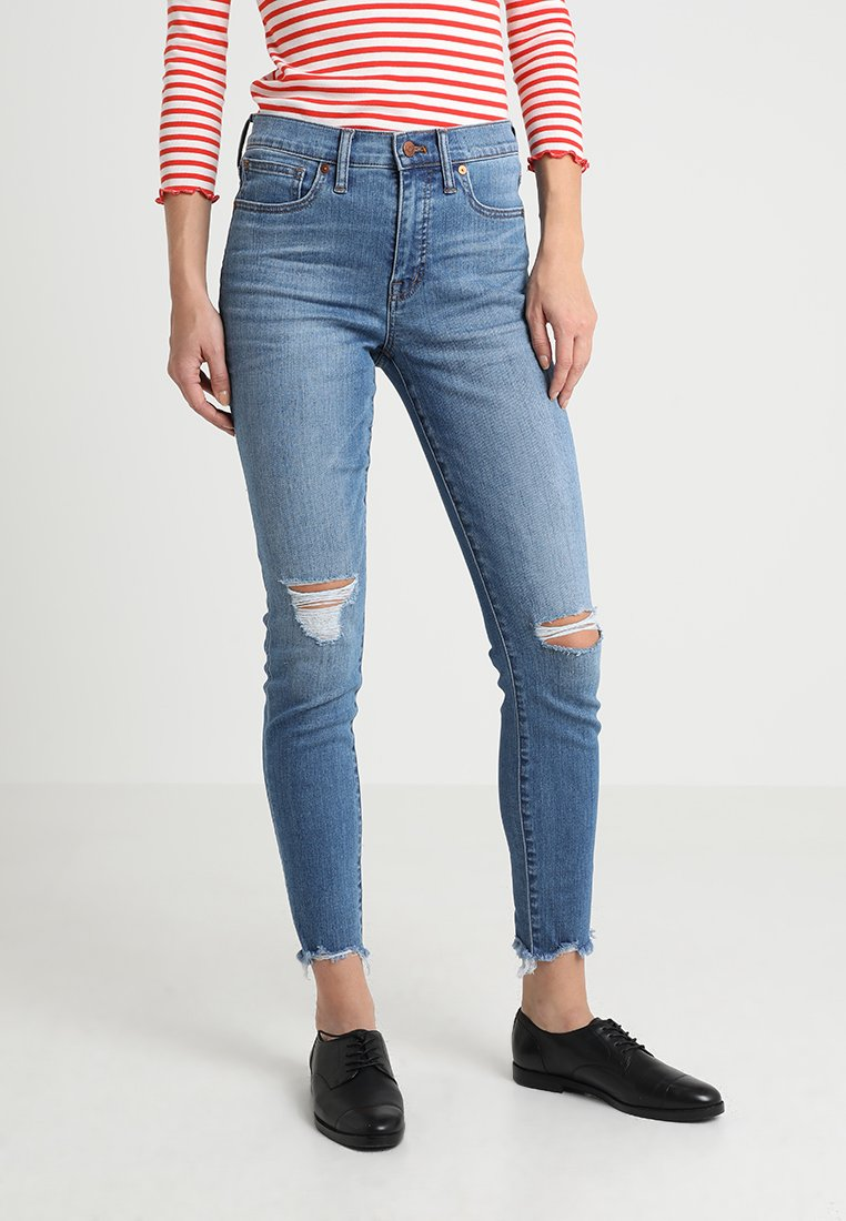 Madewell - HIGH RISE WITH SEA RIPS AND CHEWED HEM - Jeans Skinny Fit - frankie