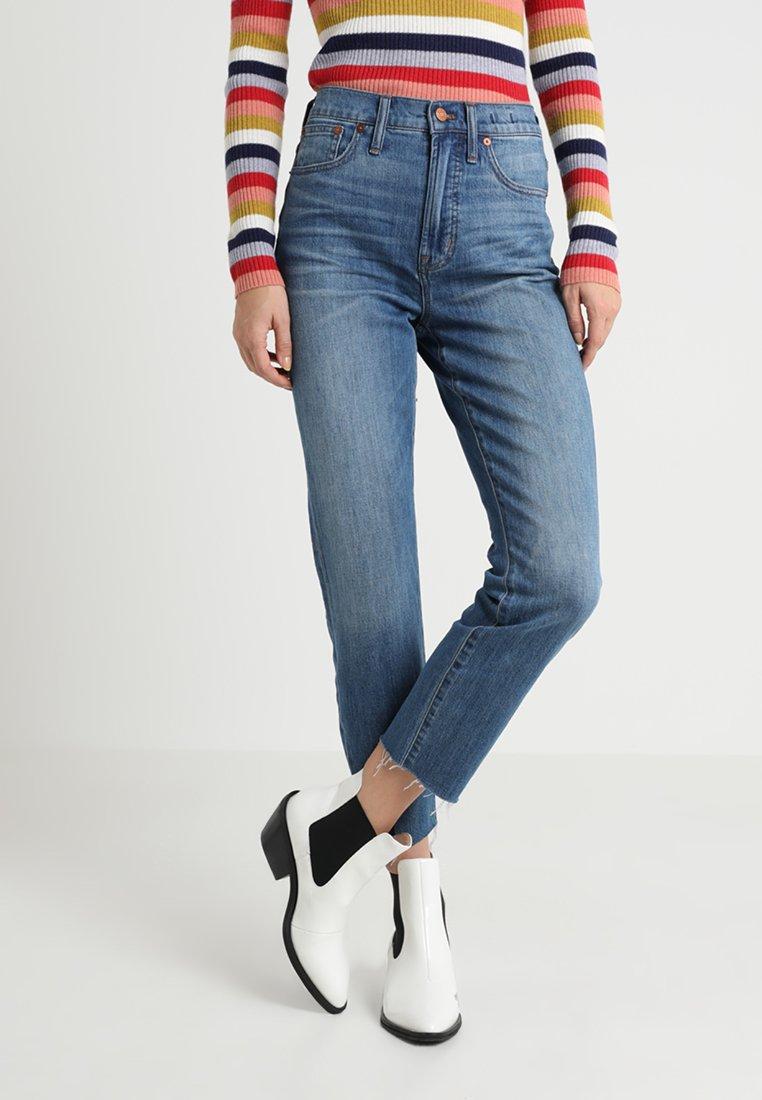 Madewell - THE PERFECT SUMMER IN  DESTRUCTED HEM - Jeans Straight Leg - valera