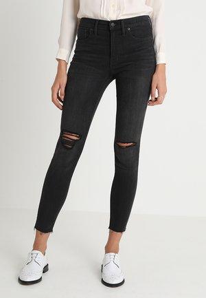 HIGH-RISE - Jeans Skinny Fit - black sea