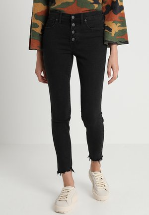 HIGH RISE BUTTON THROUGH EDITION - Skinny džíny - black denim