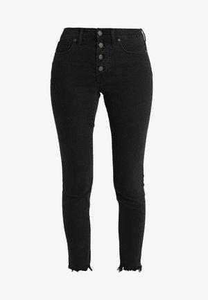 HIGH RISE BUTTON THROUGH EDITION - Jeans Skinny Fit - black denim