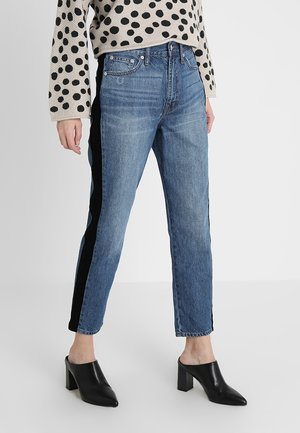 THE PERFECT VINTAGE WITH STRIPE - Jeansy Straight Leg - banbury wash